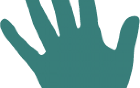 Strategic plan icon of a handprint