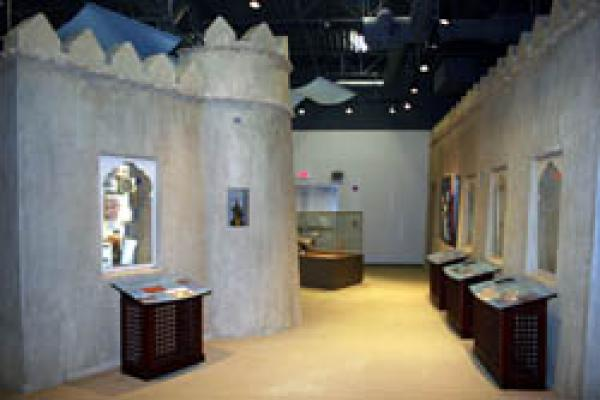Display windows in Sheikh Zayed Falconry Wing