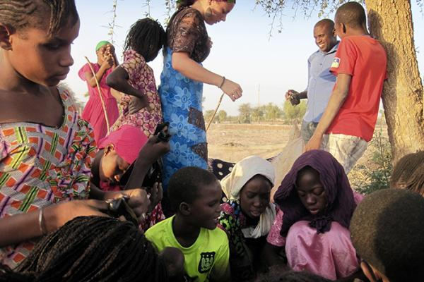 Alicia Leacox assists Senegal community planting trees