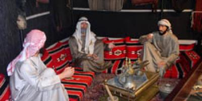 Sheikh Zayed Arab Falconry Tent Display