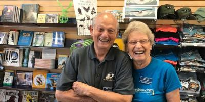 Millie and Milton Volunteer in the Gift Shop